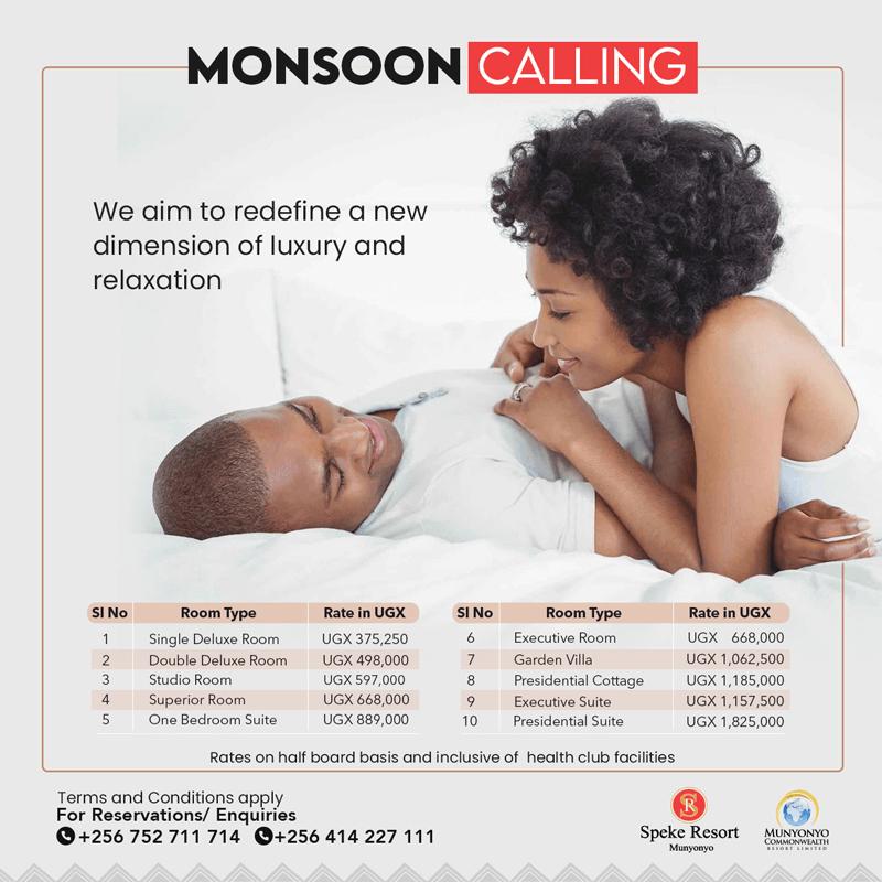 Speke Resort monsoon calling